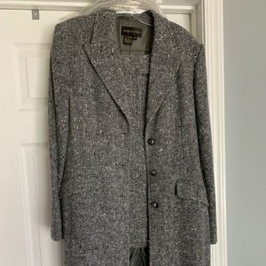 Vintage wool skirt with long jacket